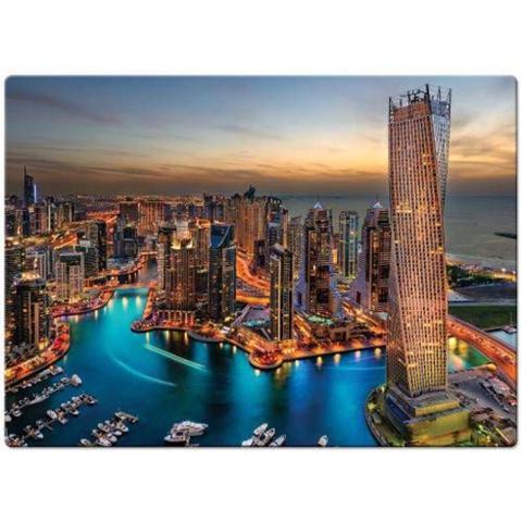 Imagem de Quebra-Cabeça 1000 Peças Paisagens Noturnas Marina de Dubai Toyster 2308