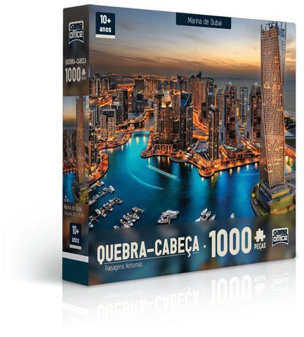Imagem de Quebra-Cabeça 1000 Peças - Paisagens Noturnas - Marina de Dubai