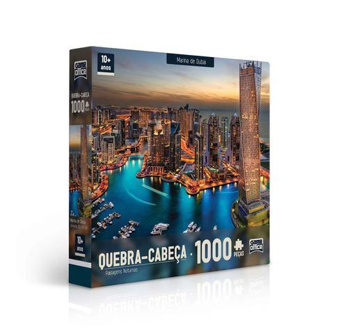 Imagem de Quebra-Cabeça - 1000 Peças - Paisagens Noturnas - MARINA DUBAI