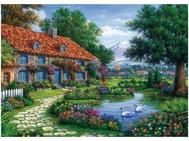 Imagem de Quebra-cabeça 1000 Peças Recanto do Cisnes - Grow