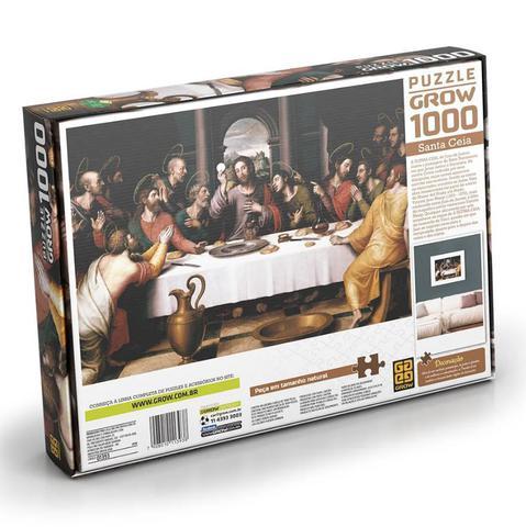 Imagem de Quebra-cabeça - 1000 Peças - Santa Ceia 1393 - Grow