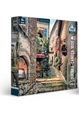 Imagem de Quebra-Cabeça 1000 Peças Vielas Francesas Escada - Toyster