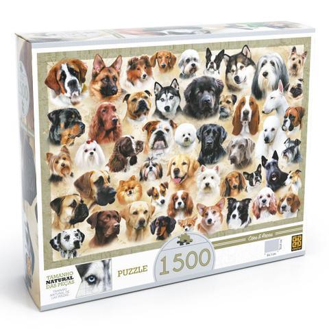 Imagem de Quebra-Cabeça - 1500 Peças - Cães e Raças - Grow