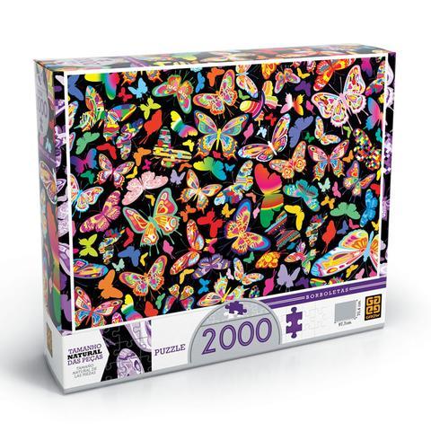 Imagem de Quebra Cabeça 2000 Peças Puzzle Borboletas Grow
