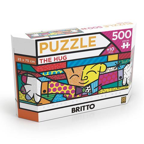 Imagem de Quebra Cabeça 500 Peças Puzzle Romero Britto The Hug Grow