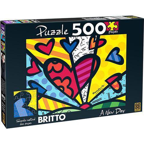Imagem de QUEBRA-CABEÇA 500 Peças Romero Brito a NEW DAY 02870 GROW