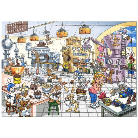 Imagem de Quebra Cabeça - A Divertida Fábrica de Chocolate - 60 peças