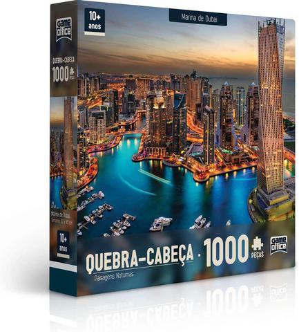 Imagem de Quebra-Cabeça Marina de Dubai 1000 Peças - Game Office 2308