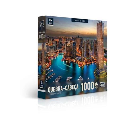 Imagem de Quebra Cabeça  Paisagens Noturnas - Marina De Dubai - 1000 Peças - Toyster