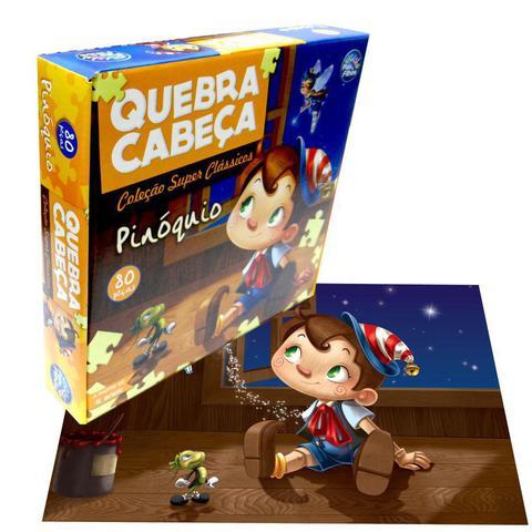 Imagem de Quebra-cabeça pinóquio 80 peças - pais  filhos
