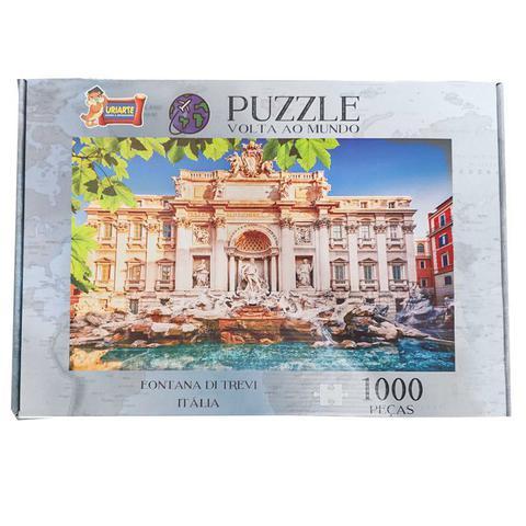 Imagem de Quebra Cabeça Puzzle 1000 peças Fontana di Trevi Itália Uriarte