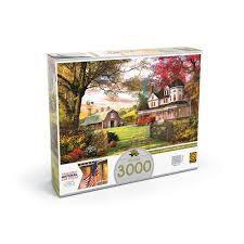 Imagem de Quebra Cabeça Puzzle 3000 Peças Fazenda Americana 3413 - Grow