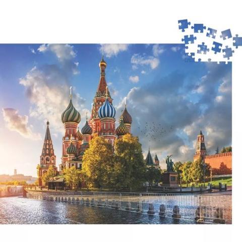 Imagem de Quebra Cabeça Puzzle 500 Peças Moscou Rússia 50x32 Cm Toya