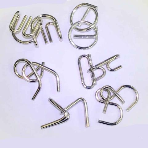 Imagem de Quebra cabeça puzzle de metal 6 peças