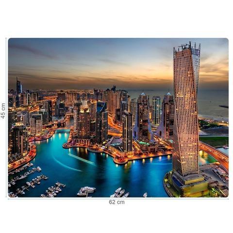 Imagem de Quebra-Cabeça Puzzle Game Office 1000 Peças Paisagens Noturnas: Marina De Dubai