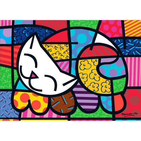 Imagem de Quebra-cabeça Romero Britto Cat 1000 Peças 3264 - Grow