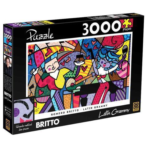 Imagem de Quebra-Cabeça - Romero Britto Latin Grammy - 3000 Peças - Grow