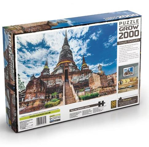 Imagem de Quebra-cabeça Templo Tailandês 2000 Peças Grow