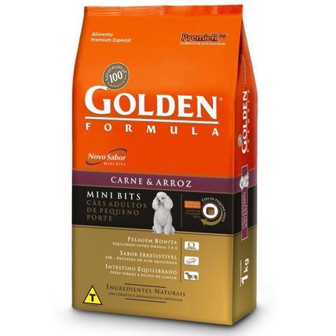 Imagem de Ração Golden Fórmula Cães Adultos Carne Raças Pequenas 3kg