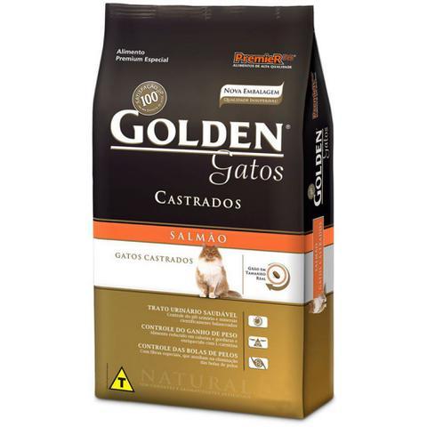 Imagem de Ração Golden Gato adulto Castrado - Salmão - 10,1kg