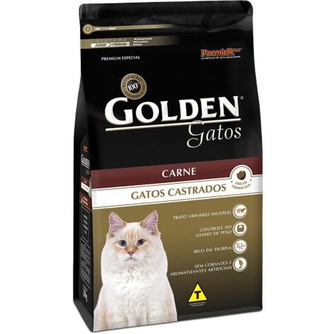 Imagem de Ração Golden Gatos Castrados Carne 10,1kg