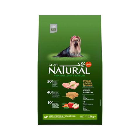 Imagem de Ração Guabi Natural Para Cães Sênior de Raças Pequenas Sabor Frango e Arroz Integral