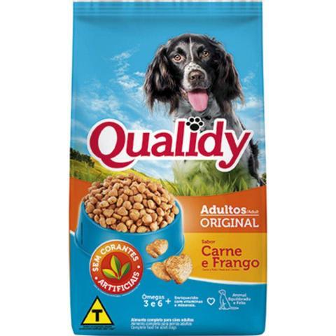 Imagem de Ração para cachorro qualidy caes orig carne e  frango 15kg