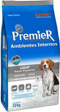 Imagem de Ração Premier Ambientes Internos Light Frango e Salmão para Cães Adultos de Raças Pequenas