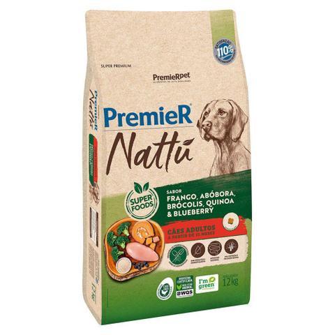 Imagem de Ração Premier Nattu Cães Adultos Frango e Abobora 12kg