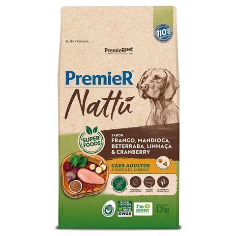Imagem de Ração Premier Nattu Cães Adultos Frango e Mandioca 12kg
