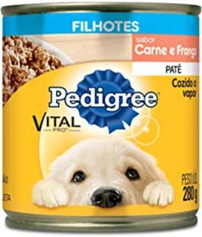 Imagem de Ração Úmida Cachorros Pedigree Lata Patê Carne E Frango 280g