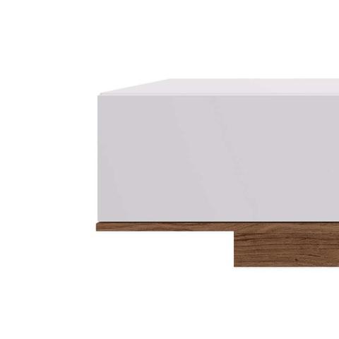 Imagem de Rack Cento I Branco e Marrom 160 cm