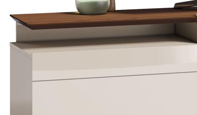 Imagem de Rack Classic +2G 2.2 Off White com Freijó - Imcal Móveis