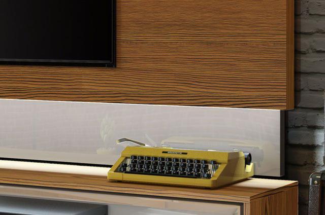 Imagem de Rack com Painel Classic +3G 2.2 com LED Freijó com Off White - Imcal Móveis