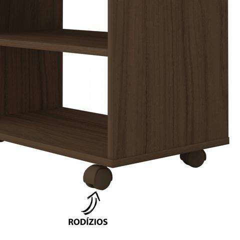 Imagem de Rack com Painel para até 42 Polegadas Cross II Artely Amêndoa/Preto