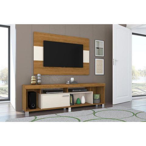 Imagem de Rack Com Painel Para TV 55 Polegadas Tomaz Naturale Off White Madetec