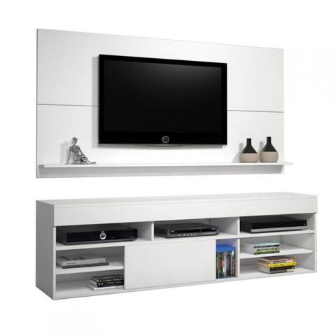 Imagem de Rack com Painel para TV até 55 Polegadas Twin Siena Móveis Branco