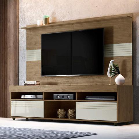 Imagem de Rack com Painel para TV até 60 Polegadas Samba Siena Móveis Avelã/Off White
