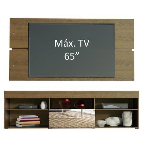 Imagem de Rack com Painel para TV até 65 Polegadas Madesa Dublin 1 Porta com Espelho - Rustic