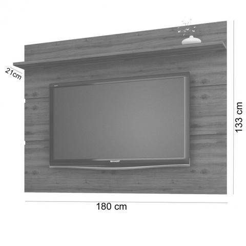 Imagem de Rack com Painel para TV até 70 Polegadas Vivare Móveis  Germai Off White/Freijó