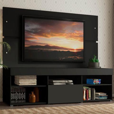 Imagem de Rack com Painel Sobreposto para TV até 65 Polegadas Madesa Everest - Preto