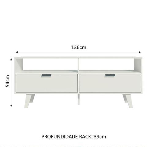 Imagem de Rack para TV até 55 Polegadas Madesa Oslo com 2 Portas