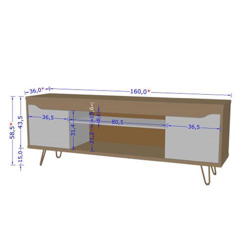 Imagem de Rack para TV para sala de estar 160 cm pés metálicos moderno