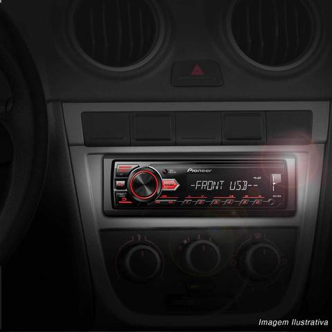 Imagem de Rádio Automotivo Pioneer MVH-98UB MP3 Player 1 Din LCD Media Receiver Smartphone Android USB AUX
