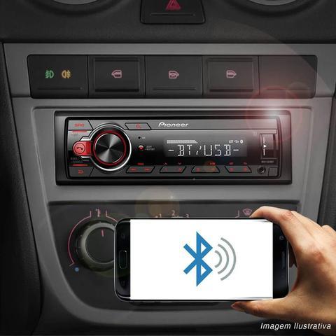 Imagem de Rádio Automotivo Pioneer MVH-S218BT Som Bluetooth MP3 Player 1 Din Android Media Receiver USB AUX FM