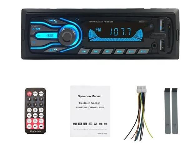 Imagem de Rádio Bluetooth Aparelho De Som Carro Automotivo Pendrive Sd Rádio Envio Imediato