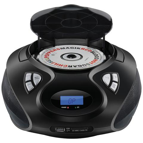 Imagem de Rádio Boombox Multilaser SP178 CD USB SD FM AUX 20w Rms