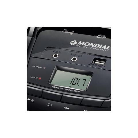 Imagem de Rádio Boombox NBX-06, Entradas USB e Auxiliar, Rádio FM, MP3 Player, Display Digital, 3.4W RMS - Mondial