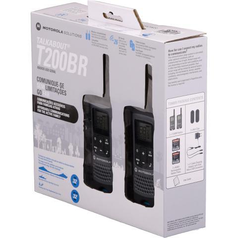 Imagem de Radio Comunicador Motorola Talkabout 32km T200BR Cinza