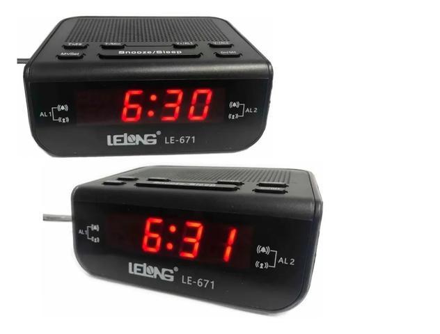 Imagem de Rádio Digital Relógio Despertador Alarme Duplo Lelong Le-671